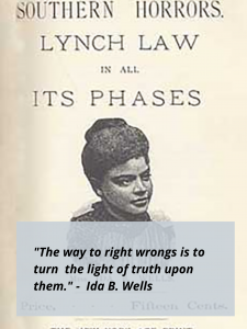 Cover of Wells Phamphlet with quote