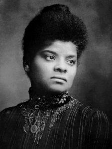 Portrait of Ida B Wells, black journalist