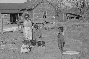 Lumbee mother and children
