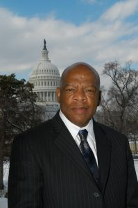 U.S. Congressman John Lewis with Capitol Rotunda in the background