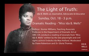 Ida B Wells Oct 18 event