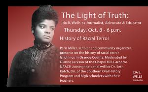 Ida B. Wells Oct 8 event