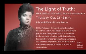 Ida B Wells Oct 22 event