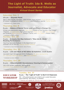 Ida B Wells Events Schedule