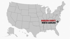 Robeson Co, NC on U.S. map