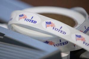 I Vote sticker