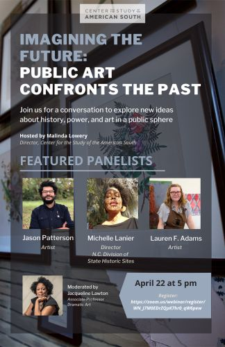 Flyer for imagining the future: public art confronts the past