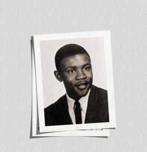 James Cates's high school yearbook photo.